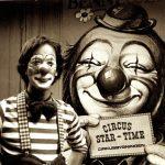 Rob and European Circus Clown