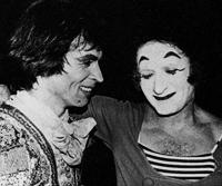 Rudolph Nureyev and Marcel Marceau