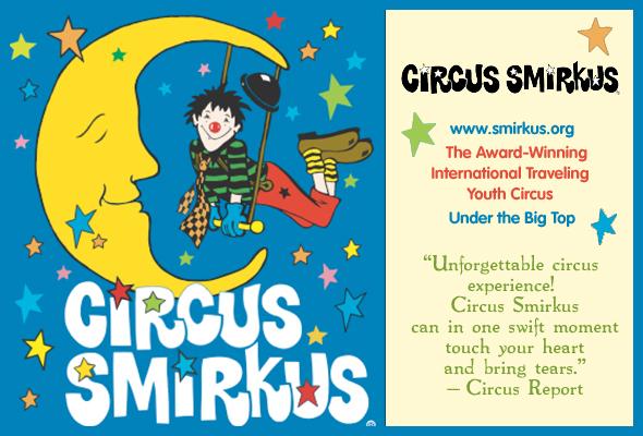 Circus Smirkus Clown in Moon